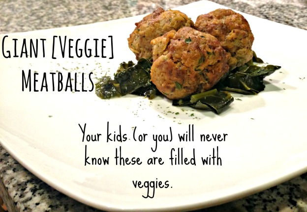 Giant Veggie Meatballs - adaptable allergy-free version, paleo - a quick and easy versatile recipe with a recipe card to print.