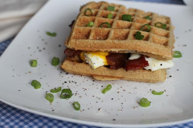 Coconut Contentment Waffle Breakfast Sandwich (Paleo)