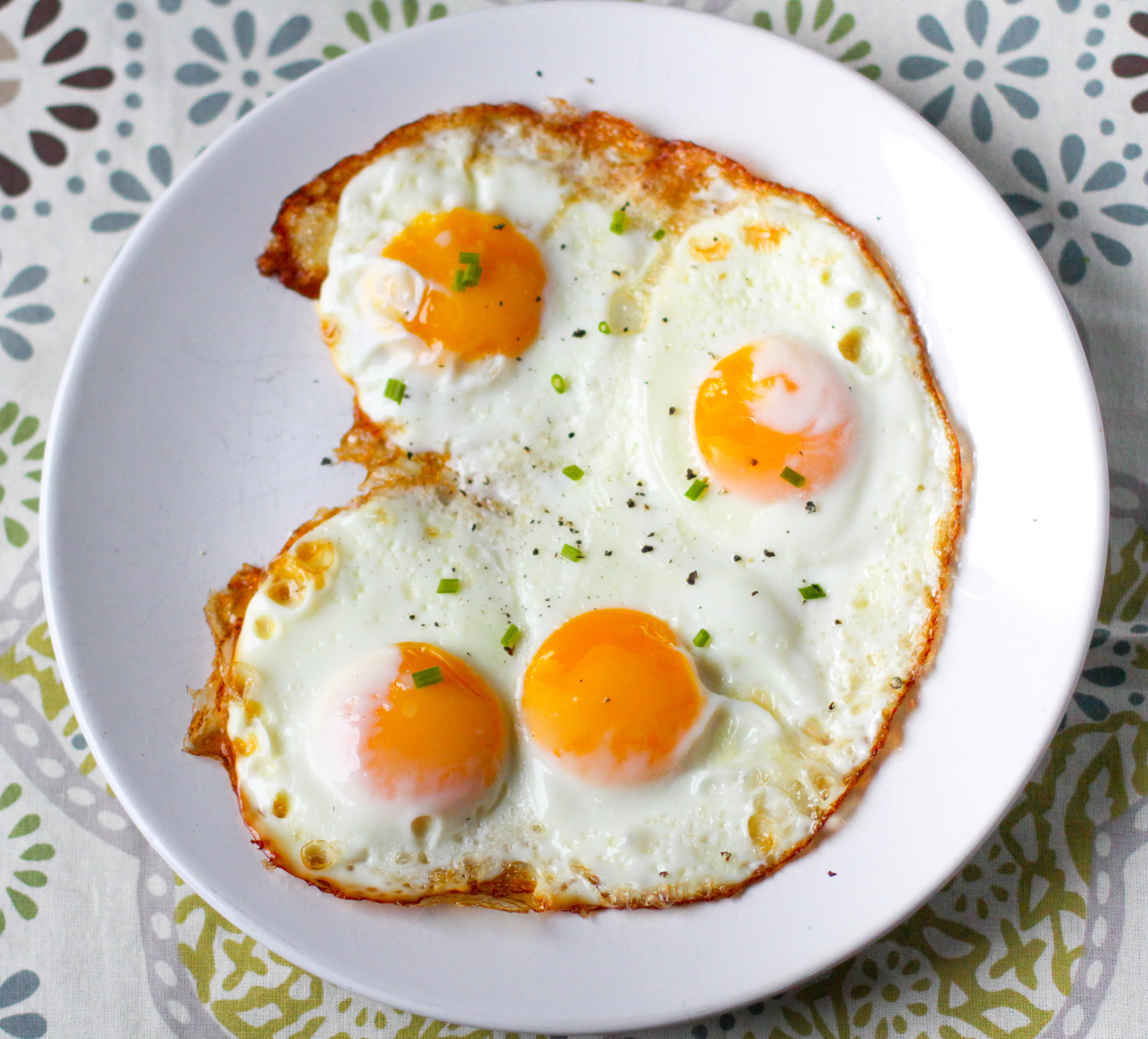 Perfect Oven Fried Eggs