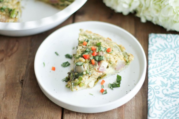 Roasted Spring Vegetable Frittata - Coconut Contentment (Gluten-Free; Paleo)